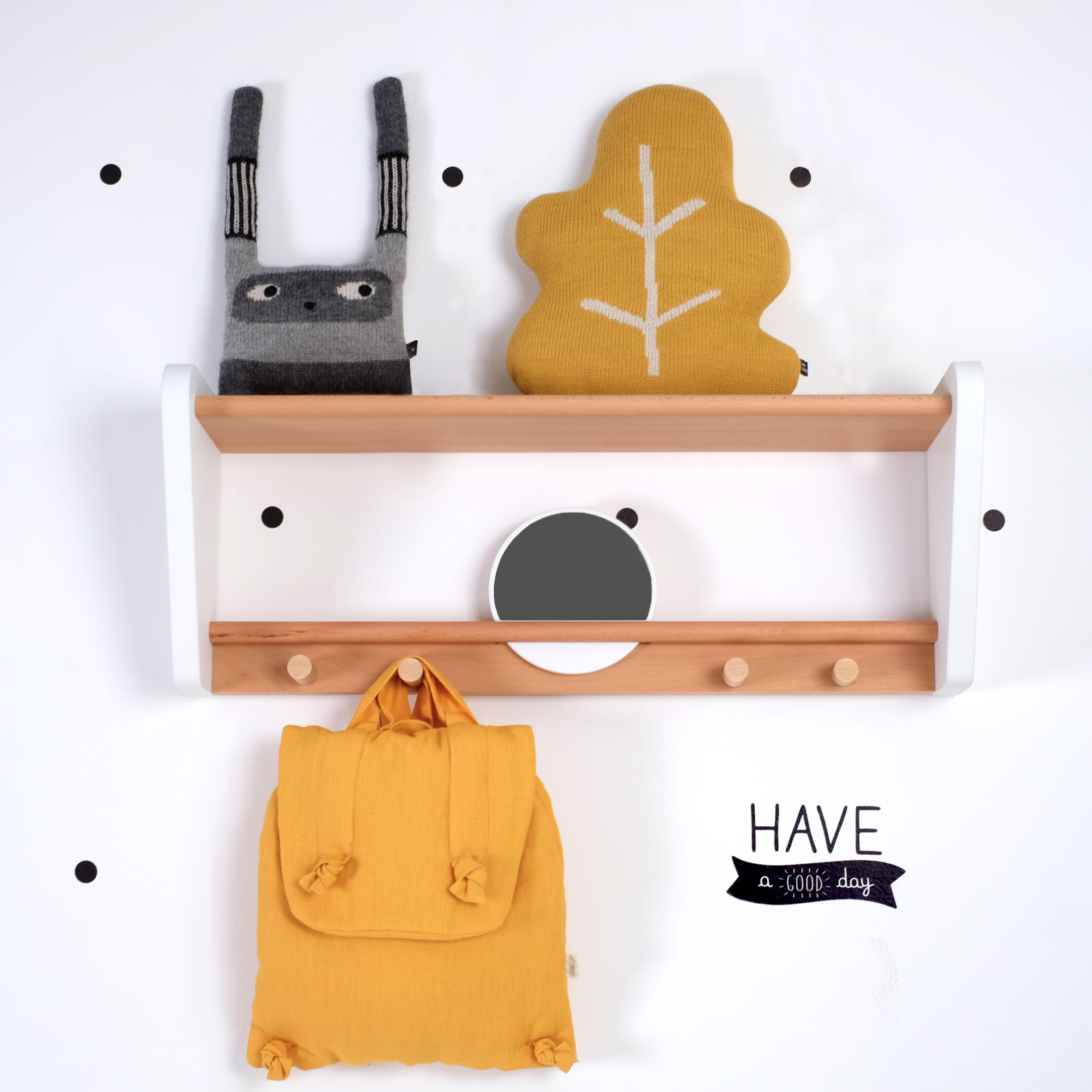 Etagere Pour Chambre Enfant forinvest ba » etagere-patere-blanc-hetre-artisanat